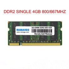 DDR2 4GB DDR2 800Mhz SODIMM RAM 667mhz 8GB 2x4GB de memória para notebook GL40 GM45 GS45 PM45 PM65 PM945 PM965 Laptop único DDR2 4GB