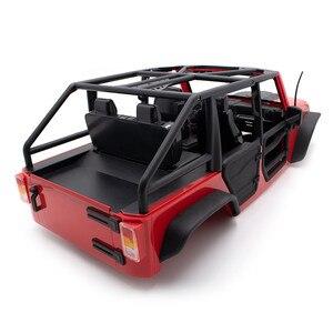 Image 3 - Передняя и задняя половинная дверь, трубчатые рельсовые двери для 1/10 осевого SCX10 II Jeep Wrangler Body RC Crawler, автомобильные запчасти, аксессуары