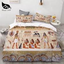 Dream NS 3Pcs Egyptian Cover Set Ancient Egypt Civilization Textiles Set Queen Bedclothes Duvet Cover Pillowcase  Bedding Sets