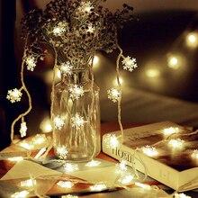 20Leds 220V Snowflake Light String Led String Fairy Light Xm