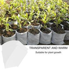 200 sztuk Non Woven Nursery Bag zestawy biodegradowalne do rodzinnego ogrodu sadzonka uprawa 4 7 #215 7 cal tkaniny sadzonka garnki torby do sadzenia tanie tanio CN (pochodzenie)
