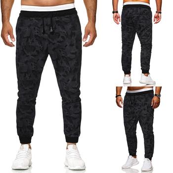 Spodnie kamuflażowe męskie spodnie joggery męskie spodnie bojówki męskie sportowiec Camo 2020 wiosna męskie spodnie pełnej długości tanie i dobre opinie Harem spodnie 1513-K114B Na co dzień Mieszkanie Midweight NONE VELOUR Luźne 64 - 104 Elastyczny pas polyester M L XL 2XL 3XL 4XL 5XL