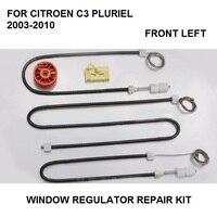 Para citroen c3 pluriel janela regulador kit de reparação frente-esquerda novo 2003-2010