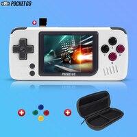 Consola de videojuegos clásicos PocketGo, consola portátil retro con pantalla de 2,4 pulgadas, para niños, con tarjeta de memoria