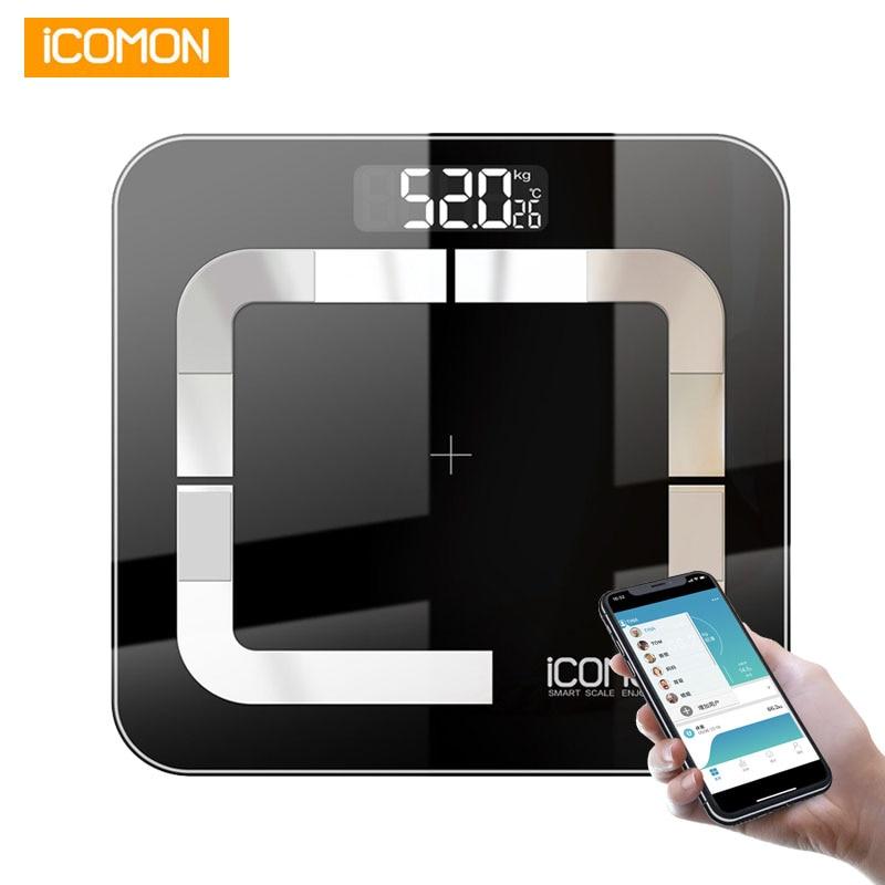 ICOMON i31 สมาร์ทเครื่องชั่งน้ำหนักดิจิตอลไขมัน mi Scale บลูทูธน้ำหนักของมนุษย์ b mi เครื่องชั่งน้ำหนักชั้น balance-ใน เครื่องชั่งน้ำหนักในห้องน้ำ จาก บ้านและสวน บน AliExpress - 11.11_สิบเอ็ด สิบเอ็ดวันคนโสด 1