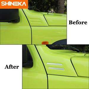 Image 5 - SHINEKA Carbon Fiber Sticker Car A pillar Corner Decorative Cover for Suzuki Jimny 2019 2020 Aluminum Alloy Exterior Accessories