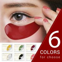 2Pcs = 1Pair Gold Kristall Kollagen Augen Maske Anti-Aging Augenringe Akne Schönheit Patches Für Auge care Augenringe Entferner TSLM2