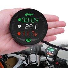 Motorcycle Gauge Display Table Voltmeter Water Temp Clock Time For Honda Suzuki Yamaha Kawasaki Victory KTM BMW