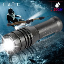 Powerful L2 Diving flashlight LED Underwater Scuba Flashlights Waterproof Portable Lantern Lights dive light Torch by 14500 AA xml t6 l2 powerful battery flashlight diving professional portable dive torch underwater illumination waterproof flashlights