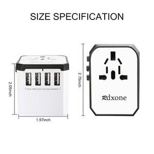 Image 2 - Adapter podróżny Rdxone uniwersalny zasilacz ładowarka na całym świecie adapter ścienny konwerter gniazd elektrycznych do telefonów komórkowych
