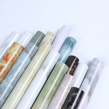 Kitchen Self-Adhesive Anti-Oil Stickers 0.58mx5m Waterproof Marble Pattern Wallpaper Household Stove Wall Sticker Cabinet Covers