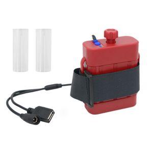 Image 5 - 2X 2X 18650 26650 8.4V נטענת סוללה מקרה חבילה עמיד למים בית כיסוי סוללה תיבת אחסון עם DC/USB מטען עבור אופניים