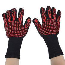 Heat Resistant Thick Silicone Cooking Baking Barbecue Oven Gloves BBQ Grill Mittens Dish Washing Gloves Kitchen Accessories cakelove heat resistant bbq glove fire insulation gloves kitchen oven grill bake gloveskitchen tools baking accessories