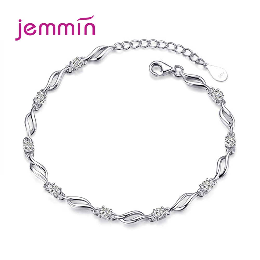 925 Sterling Silver Charm Bracelet For Decoration Fashion Jewelry Cute Romantic Style Women Girls Party Engagement