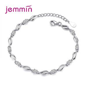 Bracelet Jewelry Charm Romantic-Style 925-Sterling-Silver Women Party for Decoration