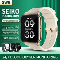 Engel Smart Uhr Männer Samsung Galaxy Uhr 4 Android SW6 Sport Fitness Wasserdicht Smart Armband Huawei Bluetooth Anruf Wat