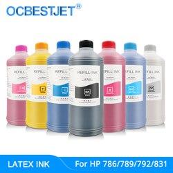 1000ML oryginalny atrament lateksowy do atramentu HP 786 789 792 831 do atramentu lateksowego HP L25500 L26500 L26100 L28500 L65500 (dostępne są 7 kolorów)