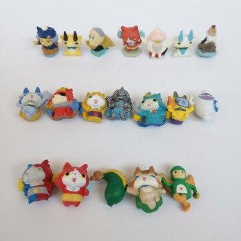 50 unids/lote de dibujos animados de nivel de anime, Linda figura de pvc, 5 Juegos de monstruos, nivel 5, Jibanyan, coleccionable susurro, juguete para regalo pequeño para niño y niña