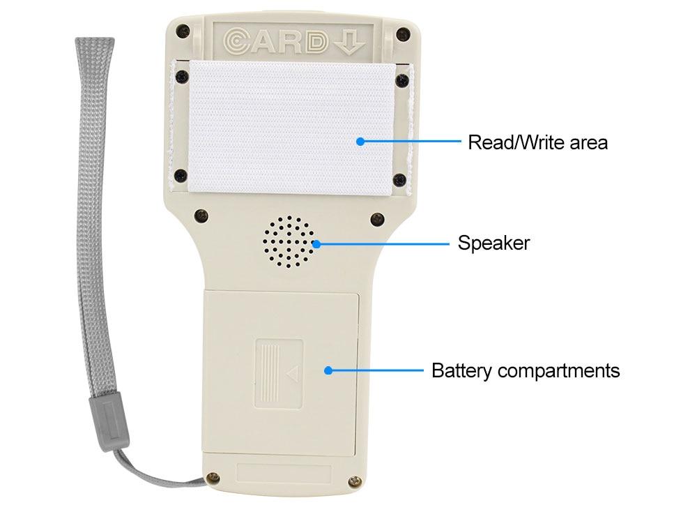 Hf39ad5d4b7b042789a7340d3ed31b794y 10 English Frequency RFID Copier Duplicator 125KHz Key fob NFC Reader Writer 13.56MHz Encrypted Programmer USB UID Copy Card Tag