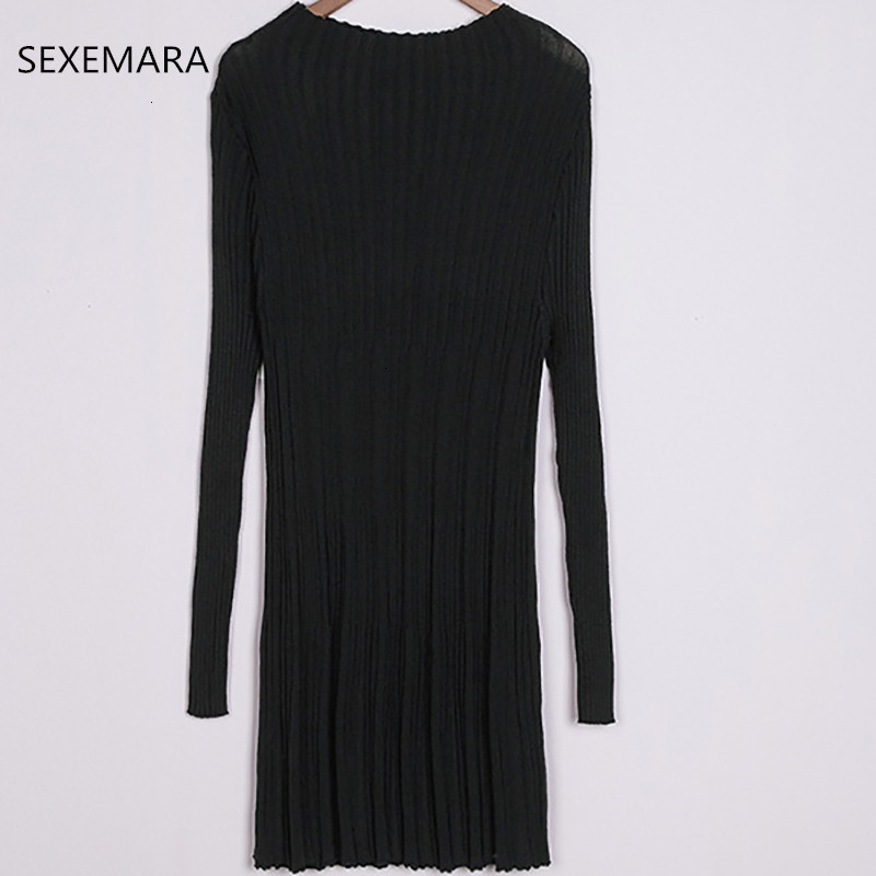 Herf And Women Long Section Sweater  New Knitted High -neck Casual Sweaters Lady LU106