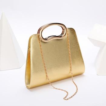 Evening  Luxury Designer Irregular Crystal Rhinestone PU Leather Shoulder Bag  2