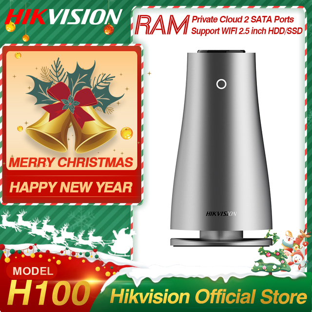 Hikvision HikStorage NAS Private Cloud Sharing Server for Home/Office WiFi Network Attached Storage support HDDs/SSDs 2.5 inch