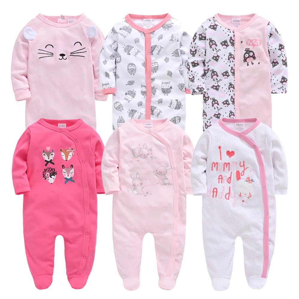 Honeyzone Neue Baby Jungen Kleidung Herbst Winter kinder 3-12M Footie Pyjamas Volle Hülse 3 stücke 6 stücke /set Neue geboren Baby Mädchen Kleidung