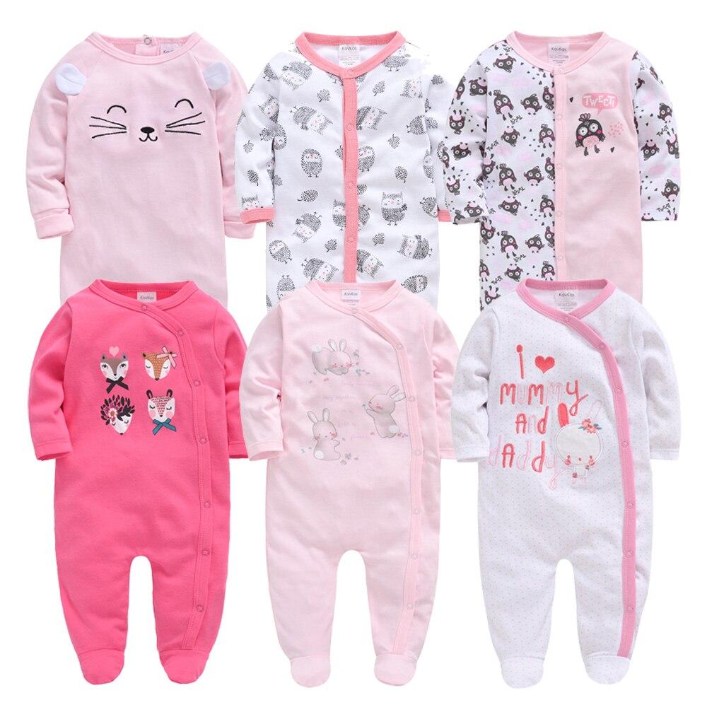 Honeyzone New Baby Boy Clothes Autumn Winter Kids 3-12M Footie Pajamas Full Sleeve 3pcs 6pcs/set New Born Baby Girl Clothing