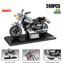 Japan yamaha v-max motorcycle Technics building block motor vehicle model steam assembly bricks educational toy collection(China)