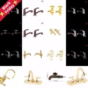 Water-Tap Faucet Dollhouse Bathroom-Accessories Miniature Metal 1:12 for 12styles 1/2pcs