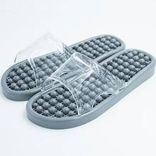 Массажная Домашняя мужская обувь для сна; мужские тапочки; домашняя обувь; сезон лето; женская обувь для ванной; прозрачный тапочек; обувь унисекс