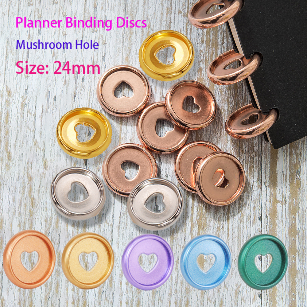 36 шт. 24 мм связующие кольца для блокнота, пластиковые кольца в форме гриба, связующие диски для планировщика, связующие диски для блокнота, к...