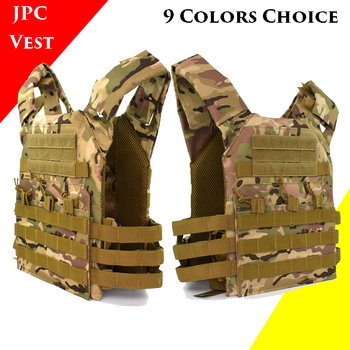 JPC Military Outdoor CS Game Airsoft Paintball Body Armor Tactical Gear Military Army Combat Vest Molle Plate Carrier Vest usmc military airsoft paintball vest body armor molle combat plate carrier tactical vest outddor hunting clothes