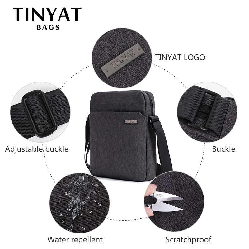TINYAT bolsos de hombro para hombres bolsos de Canva para hombres 9,7 'pad Casual impermeable bolso de la Honda de la Escuela de Negocios para hombres bolso bandolera gris para hombres
