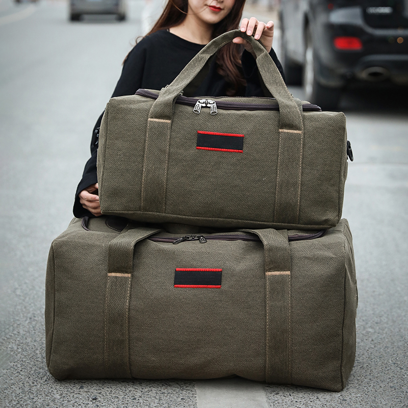Large-capacity Canvas Bag Travel Bag Male Hand Luggage Bag Female Short-distance Travel Bag