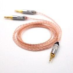 2.5mm TRRS zrównoważony 8 rdzeń Litz oplot słuchawki uaktualnić kabel do MDR-Z7 Z7M2 MDR-Z1R D600 D7100