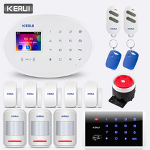 KERUI W20 Anti-theft Alarm Equipment Wireless Smart Home WIFI GSM Security Alarm System 2.4 inch TFT Touch Panel Alarm System 7 inch touch screen 868mhz alarm with english german italian dutch french czech finnish for option home secure gsm alarm system