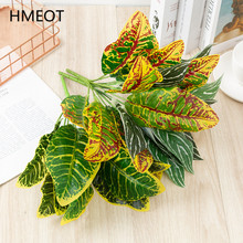 Artificial Green Plants Leaf Grass Evergreen Calla Lily Plants Wall Materials Fake Plastic Green Wedding Home Desktop Decoration