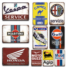 Брендовые винтажные металлические знаки для гаража украшения