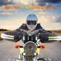 Motorrad Lenker Handschuhe Mit Reflektierende Streifen Winter Thermische Winddicht Wasserdichte Warme Motorrad Griff Bar Hand Abdeckung Muffs-in Handschuhe aus Kraftfahrzeuge und Motorräder bei