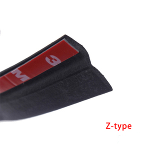Image 3 - P Z D Type Automotive Door weatherstripping Door Rubber Seal Strip Car Sound Insulation 4 Meters Rubber Sealing For Car Rubber
