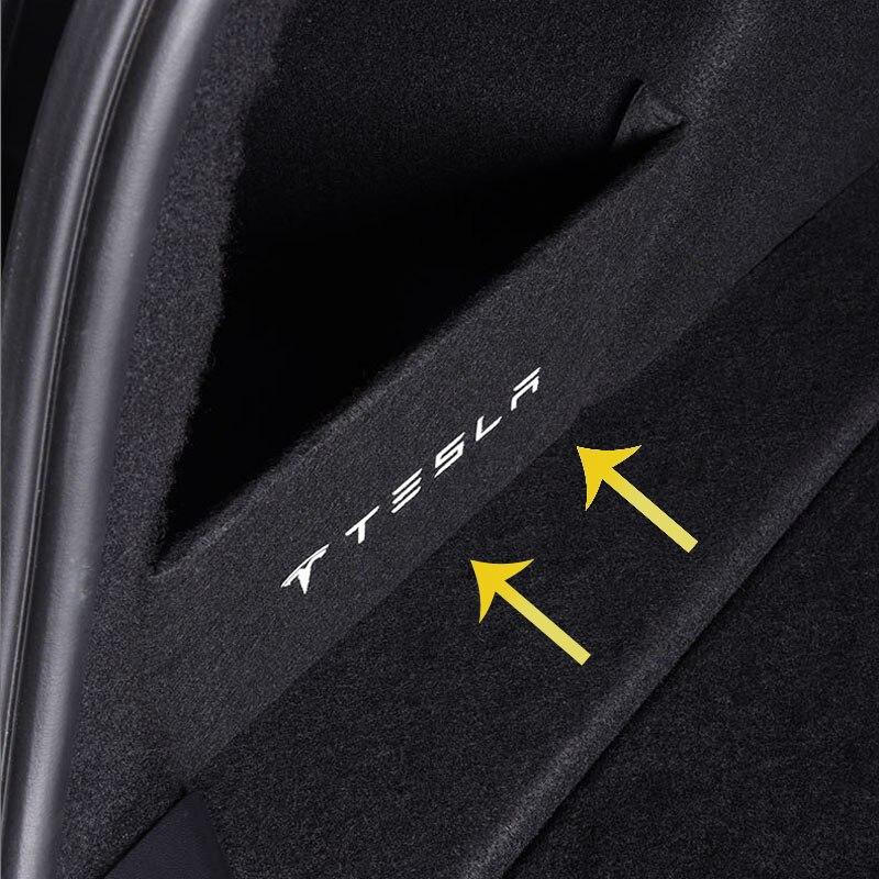 For Tesla Model 3 Car Tail Trunk Storage Baffle Slot Board Interior Decoration Accessories