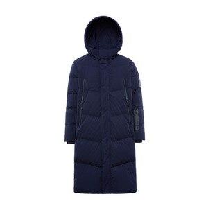 Image 5 - Bosideng 남성 후드 롱 다운 재킷 겨울 오버 무릎 패션 캐주얼 고품질 다운 코트 방수 파카 b80142015