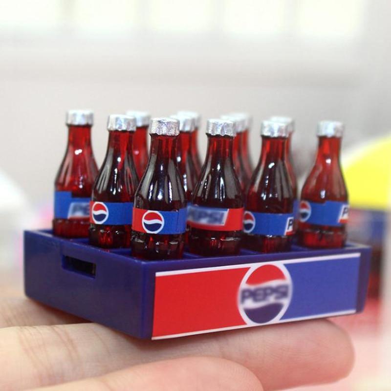 6 Pc Dollhouse Miniature Coke Cola Soda Bottle Soft Drink 1:6th Scale