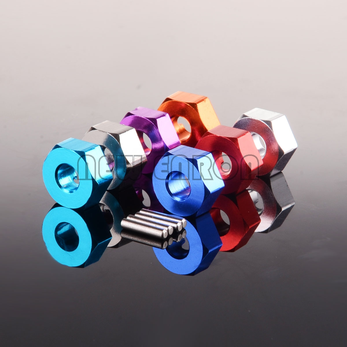 NEW ENRON 4P Aluminum 12mm Wheel Hex & PIN 5MM Thickness For RC 1/10 TAMIYA CC01 CC-01