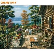 Chenistory красивый дом diy картина по номерам современный Настенная