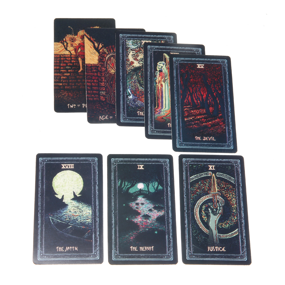 2019 Full English Deck Tarot Cards DIY Silver Plating Prisma Visions Tarot High Quality Tarot Deck Board Game Cards
