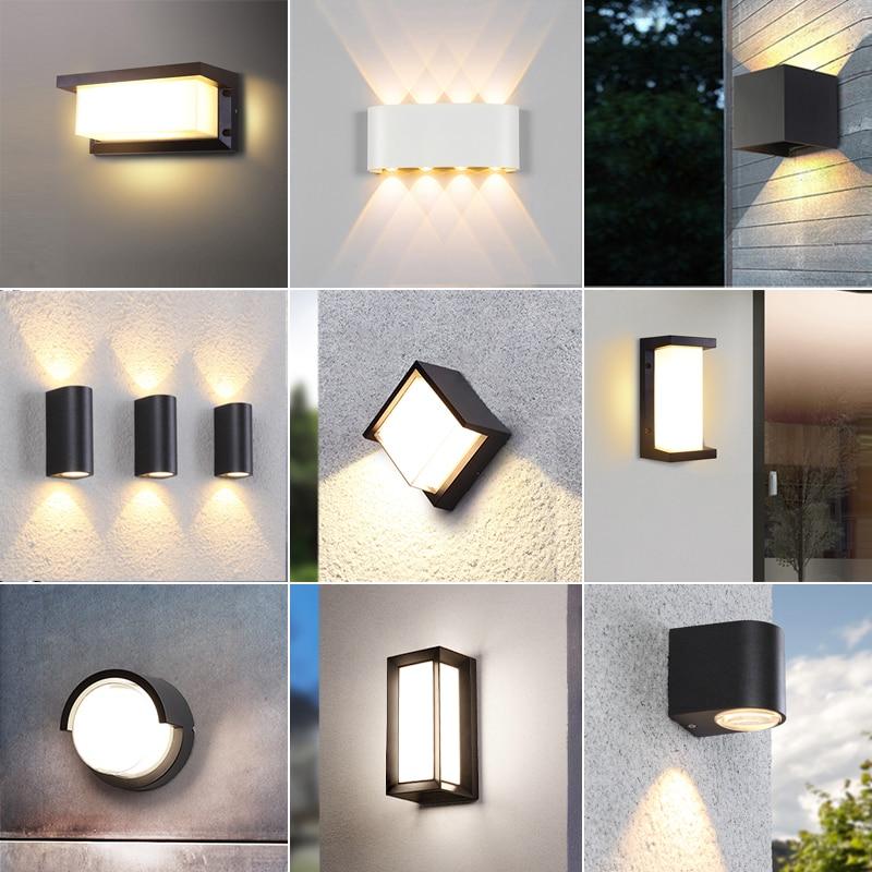 jardim moderno luz de parede led a prova dwaterproof agua ao ar livre lampada parede ip65