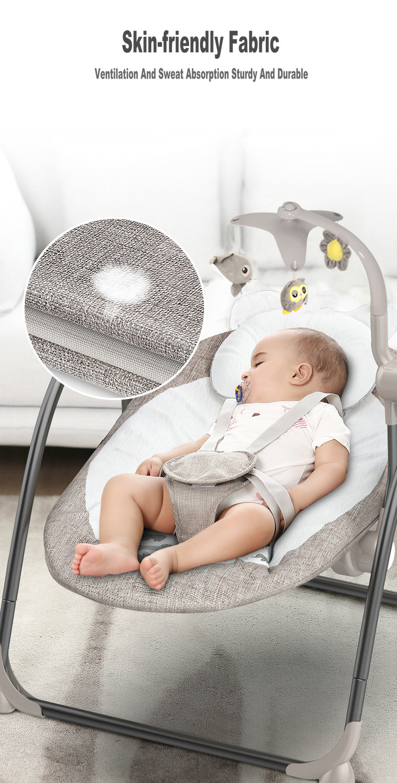 Hf39c452025144020878891ebbe6e3460b Baby Swing Multifunctional Baby Electric Baby Rocking Chair Electric Baby Cradle With Remote Control Cradle Rocking Chair