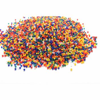5000 sztuk Multicolor w kształcie perły hydrożel kryształowe wodne kuleczki do gleby żel błoto rosną galaretki kulki dla kwiat ślub Home Decoration tanie i dobre opinie AA170-1 Kryształ gleby Crystal Soil 5000pcs Multi-color 12-15mm 2 5-3mm